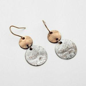 Bohemian mixed metal vintage earrings